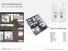 Hoàng Huy Gand Tower Hải Phòng Giá : 1ty350