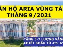 Aria Vũng Tàu Chiết Khấu 500 Triệu-Căn Góc 3PN 160m2-View Biển, Tầng Cao, Giá 5.