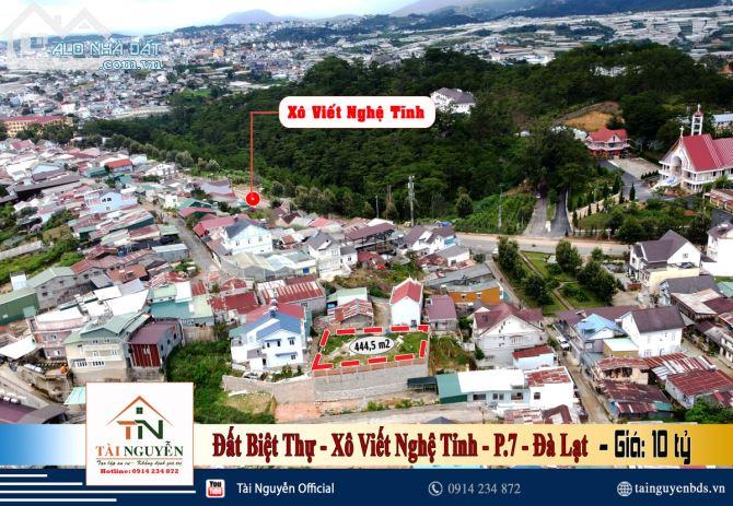 Cần bán lô đất XD 445 m2, VIEW 360  đắc địa ngay đường Xô Viết Nghệ Tĩnh, P.7, Đà Lạt giá
