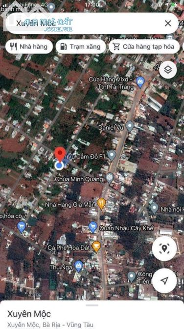 Bán lại lô đất 153m2 tại Huyện Xuyên Mộc tỉnh Bà Rịa Vũng Tàu gần hồ Pato