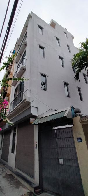 Bán nhà Tam Trinh, 46m2 x 5 tầng, mặt tiền 5m, lô góc, 30m ra mặt phố, nhà mới ở luôn